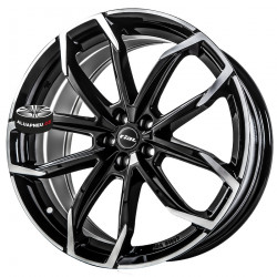 6.5x16 5/112 ET46 57.1 RIAL Lucca Diamond Black Front Polished